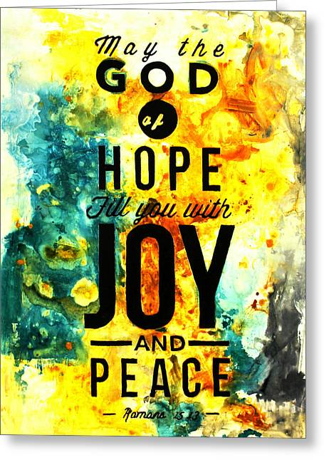 The God Of Hope Greeting Card