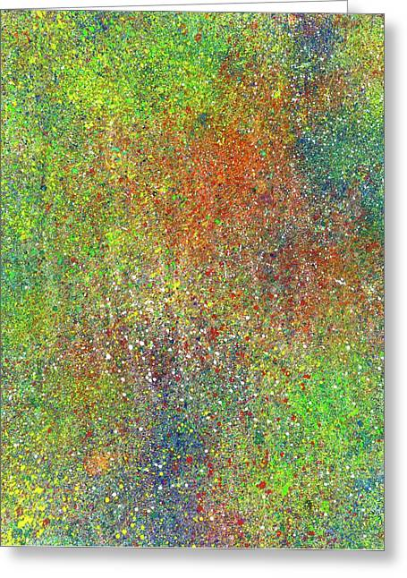 The God Particles #544 Greeting Card by Rainbow Artist Orlando L aka Kevin Orlando Lau