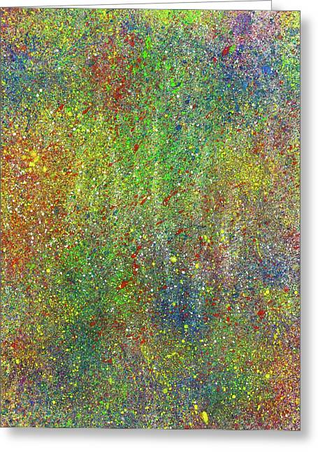 The God Particles #545 Greeting Card by Rainbow Artist Orlando L aka Kevin Orlando Lau