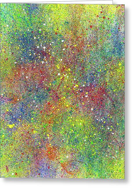 The God Particles #546 Greeting Card by Rainbow Artist Orlando L aka Kevin Orlando Lau
