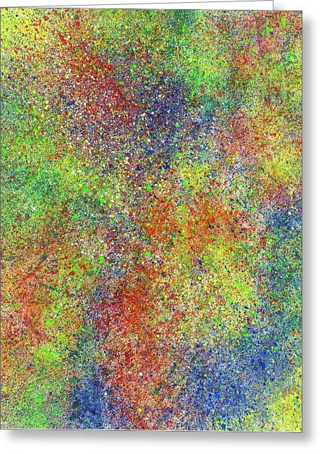 The God Particles #548 Greeting Card by Rainbow Artist Orlando L aka Kevin Orlando Lau