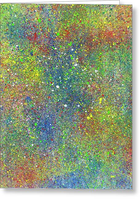 The God Particles #549 Greeting Card by Rainbow Artist Orlando L aka Kevin Orlando Lau