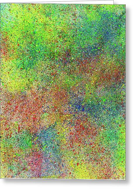 The God Particles #550 Greeting Card by Rainbow Artist Orlando L aka Kevin Orlando Lau