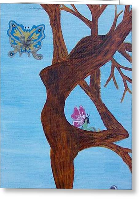 The Goddess Tree In Daylight Greeting Card by Amy Lauren Gettys