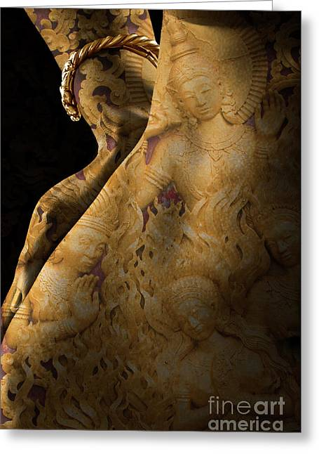 The Goddess Within Greeting Card by Craig Lovell