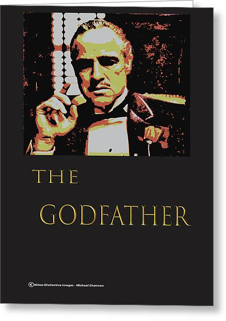 The  Godfather Greeting Card by Michael Chatman