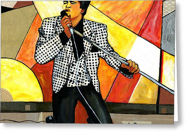 African-american Greeting Cards - The Godfather of Soul James Brown Greeting Card by Everett Spruill