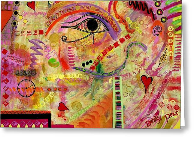 The Gods Must Be Crazy Greeting Card by Denise Peat