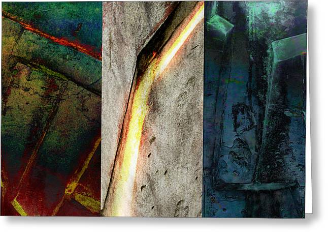 Greeting Card featuring the digital art The Gods Triptych 2 by Ken Walker