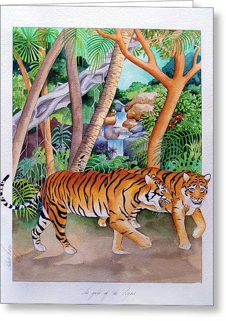 The Gold Of The Tigers Greeting Card by Robert Lacy