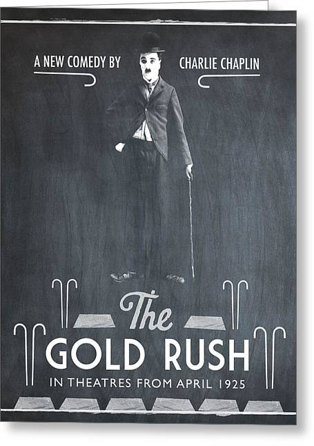 The Gold Rush Charlie Chaplin 1925 Chalk Greeting Card