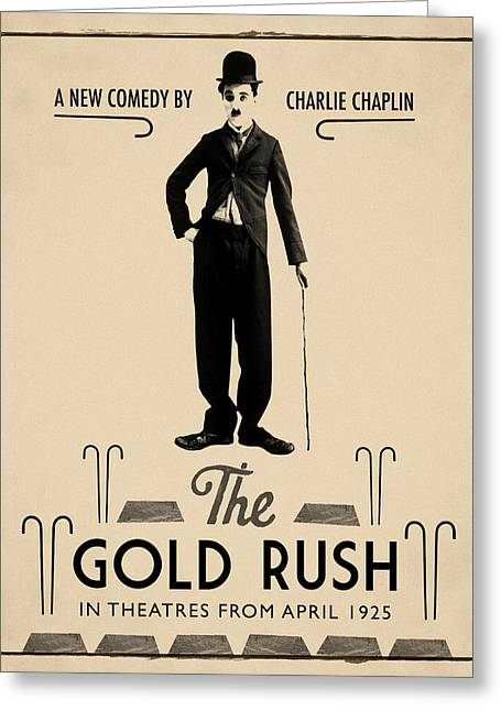 The Gold Rush Charlie Chaplin 1925 Greeting Card