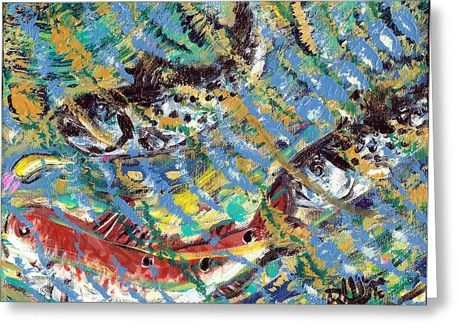 Speckled Trout Greeting Cards - The Gold Spoon Greeting Card by Robert Wolverton Jr