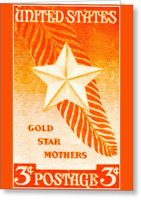The Gold Star Mothers Stamp Greeting Card