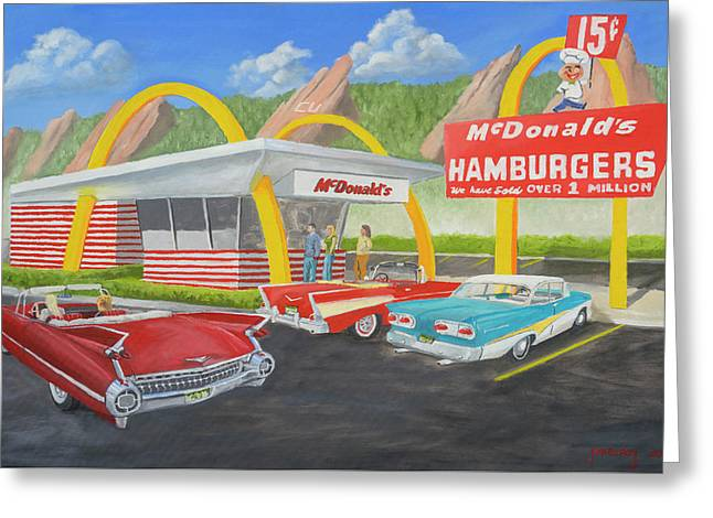The Golden Age Of The Golden Arches Greeting Card