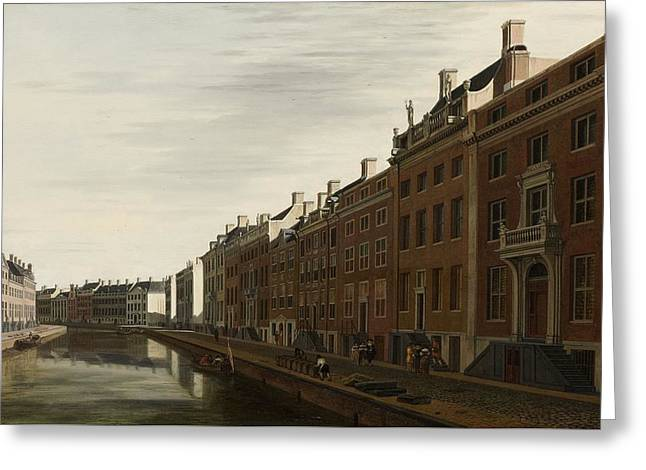 The Golden Bend In The Herengracht, Amsterdam, Seen From The West, 1672 Greeting Card