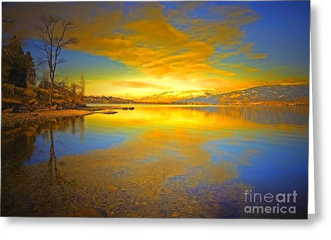 The Golden Clouds Of Winter Greeting Card