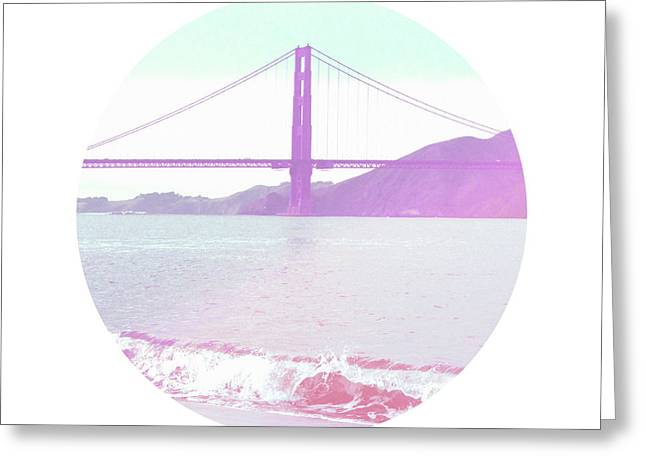The Golden Gate- Art By Linda Woods Greeting Card by Linda Woods
