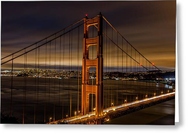 The Golden Gate Bridge Greeting Card by Albert Mendez