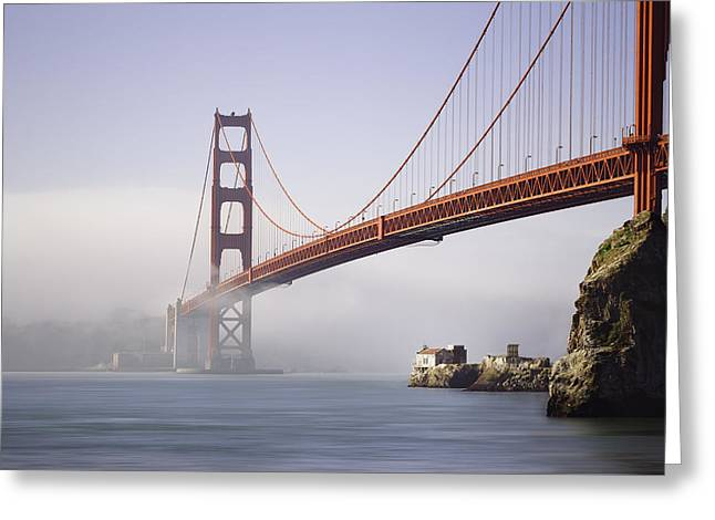 The Golden Gate Bridge Greeting Card by Eduard Moldoveanu