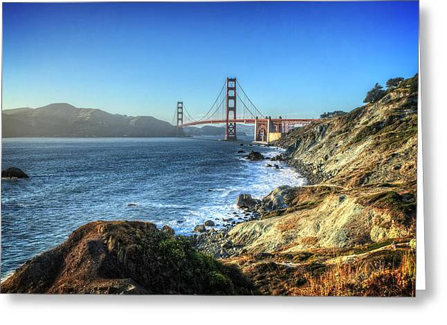 Golden Gate Greeting Cards - The Golden Gate Bridge Greeting Card by Everet Regal