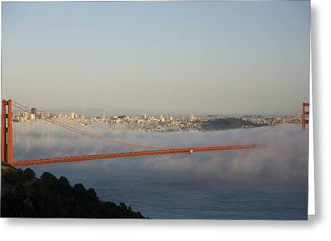 The Golden Gate Bridge From Marin Greeting Card by Richard Nowitz