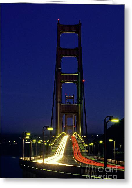 The Golden Gate Bridge Twilight Greeting Card