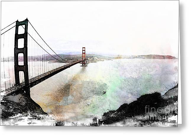 The Golden Gate From The Marin Headlands Greeting Card