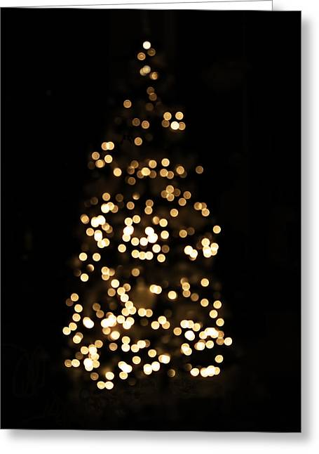 The Golden Glow Of A Christmas Tree Greeting Card by Rona Black