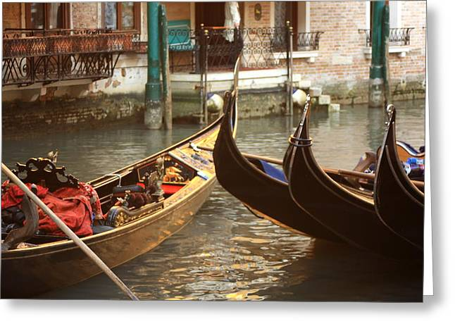 The Golden Gondola Greeting Card by Michael Henderson