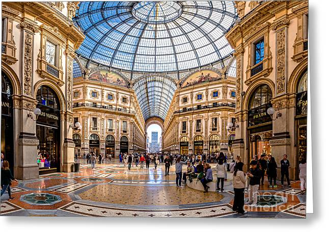 The Golden Hall Greeting Card by Giuseppe Torre