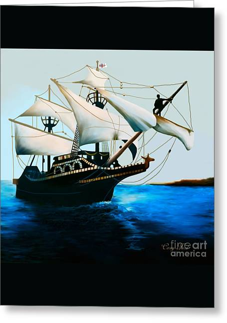 The Golden Hind Greeting Card