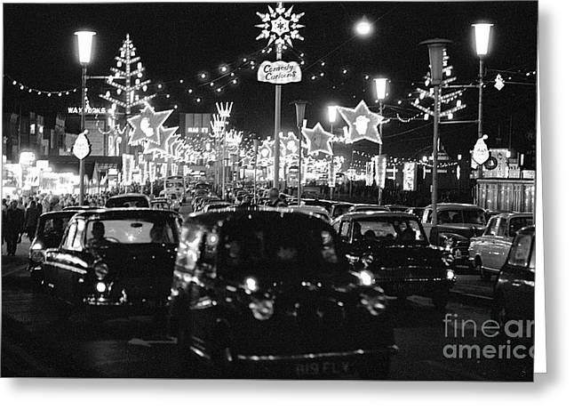 The Golden Mile In Blackpool England, 1966 Greeting Card