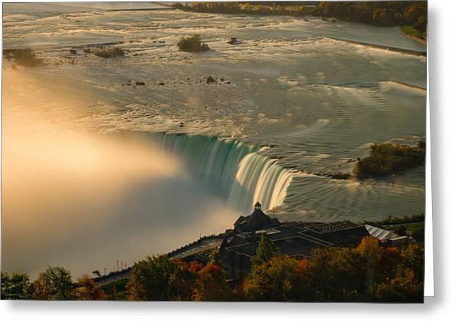 The Golden Mist Of Niagara Greeting Card