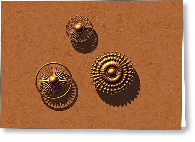 The Golden Ones Greeting Card by Lyle Hatch