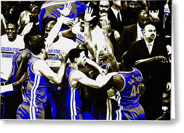 The Golden State Warriors Victorious Greeting Card by Brian Reaves