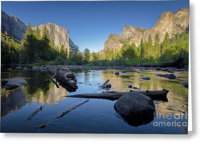 The Golden Valley Greeting Card by JR Photography