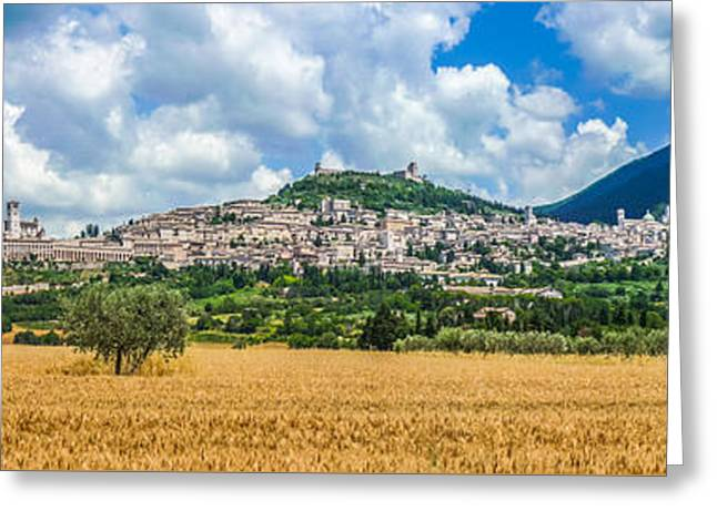 The Golden Way To Assisi Greeting Card by JR Photography