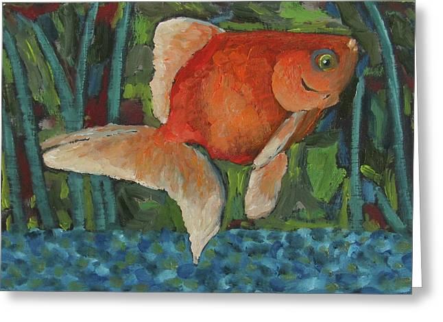 The Goldfish Bowl Greeting Card by Susan  Spohn