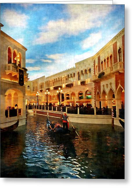 The Gondolier Greeting Card by Dan Stone