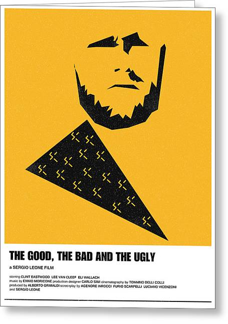 The Good Bad Ugly Clint Eastwood Poster Greeting Card