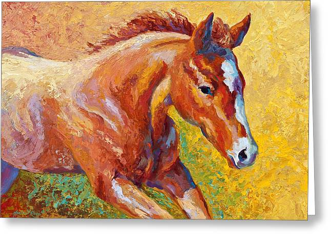 Colts Greeting Cards - The Good Life Greeting Card by Marion Rose