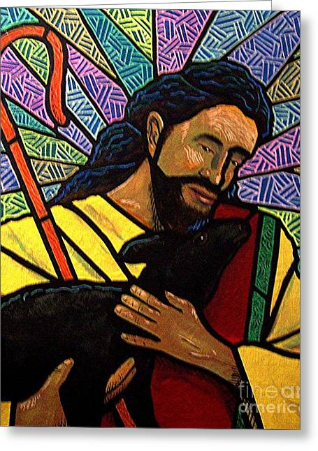 The Good Shepherd - Practice Painting One Greeting Card by Jim Harris
