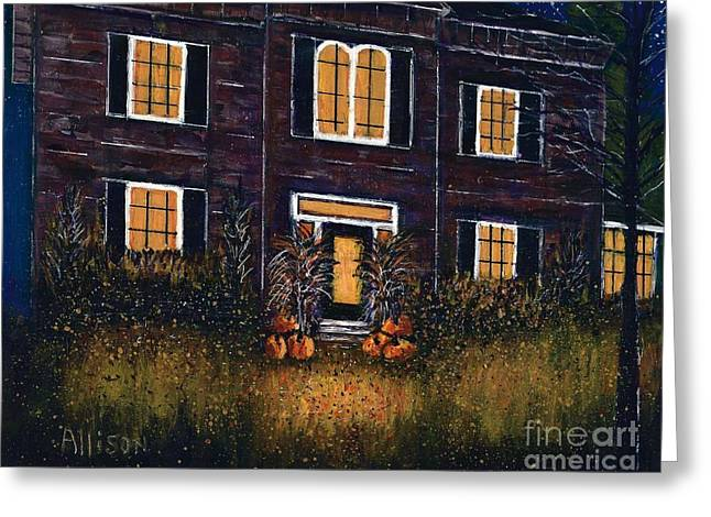 The Good Witch Grey House Greeting Card
