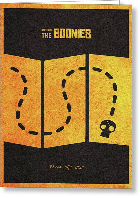 The Goonies Alternative Minimalist Movie Poster Greeting Card by Ayse Deniz