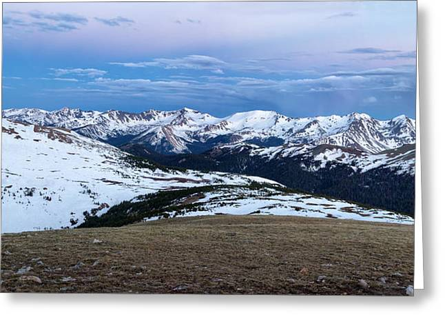 The Gore Range At Sunrise - Rocky Mountain National Park Greeting Card by Ronda Kimbrow