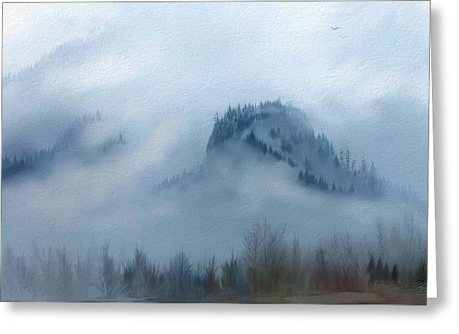 The Gorge In The Fog Greeting Card