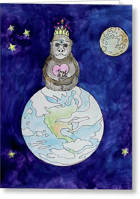 The Gorilla Queen Greeting Card