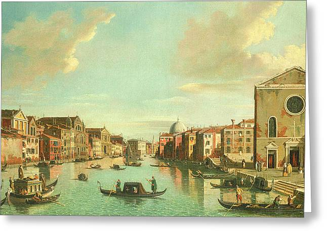 The Grand Canal  Venice Greeting Card by William James