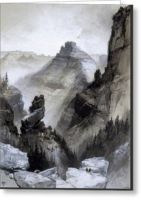 The Grand Canyon Drawing            Greeting Card